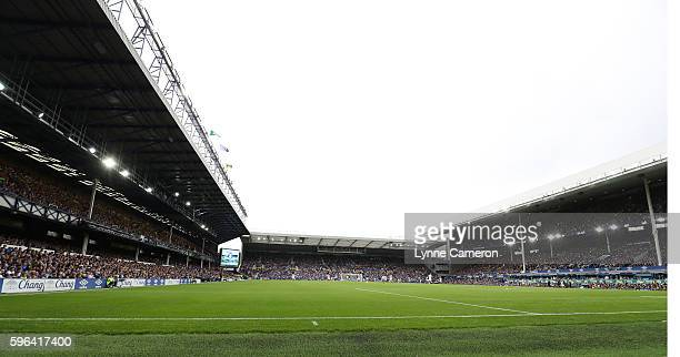 General View of Goodison Park during the Premier League match between Everton and Stoke City at Goodison Park on August 27 2016 in Liverpool England