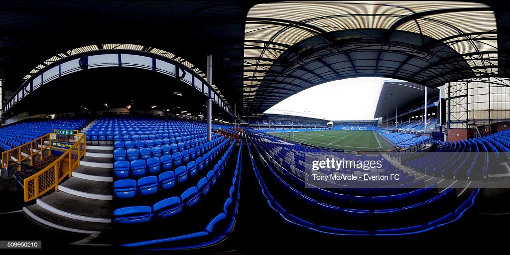 A general view of Goodison Park prior to the Barclays Premier League match between Everton and West Bromwich Albion at Goodison Park on February 13, 2016 in Liverpool, England.