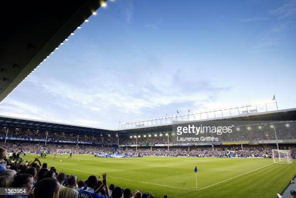 General view of Goodison Park taken during the FA Barclaycard Premiership match between Everton and Birmingham City played at Goodison Park in...