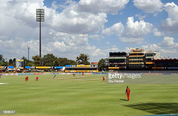 A general view of Goodyear Park during the World Cup Super Six One Day International between Kenya and Zimbabwe held on March 12 2003 at Goodyear...