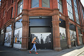 A general view of grafitti on shop shutters Manchester's northern quarter on June 23 2014 in Manchester England Chancellor George Osborne announced...