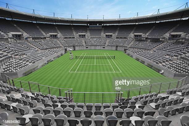 General View of Grass Tennis Court