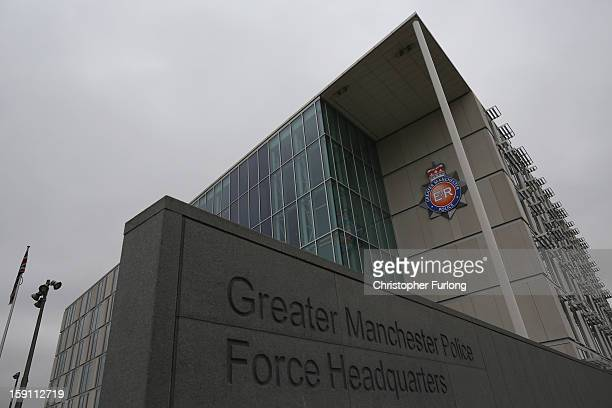 A general view of Greater Manchester Police Headquarters where Santanu Pal the father of missing student Souvik Pal made an appeal for details and...