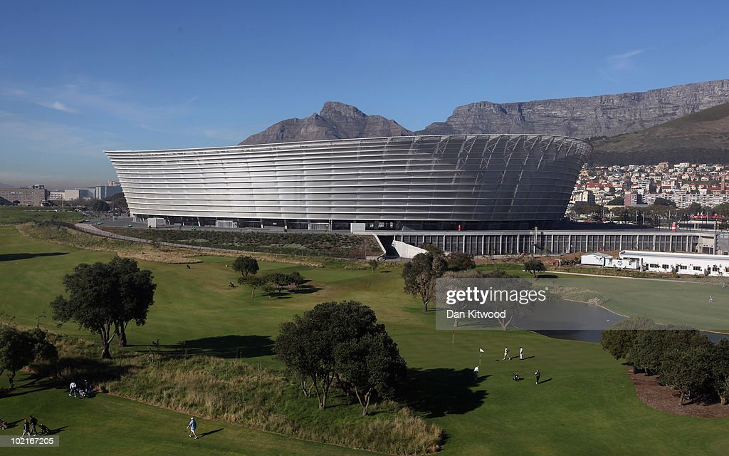 A general view of Green point Stadium on June 17 2010 in Cape Town South Africa Cape Town hosts the match between England and Algeria in the second...