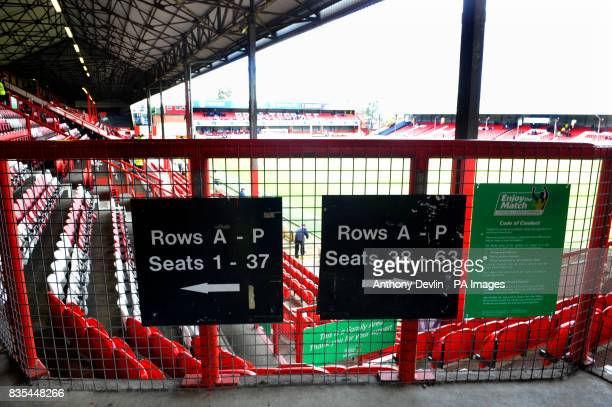 General view of Griffin Park home of Brentford Football Club