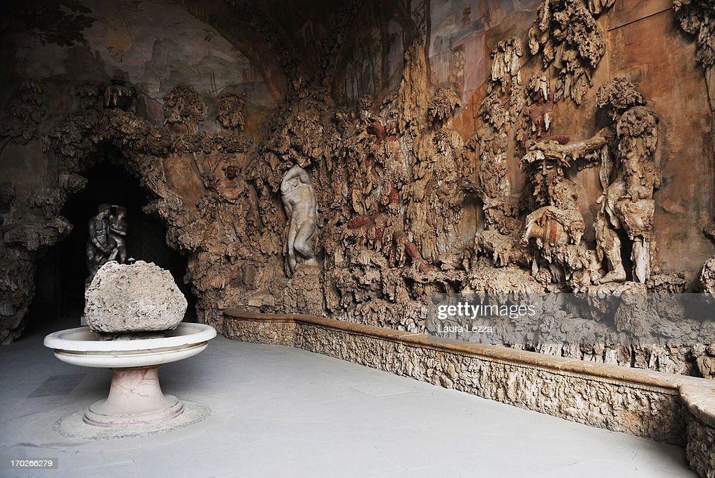 A general view of Grotta del Buontalenti ('Buontalenti Grotto') inside the Boboli Gardens on June 8, 2013 in Florence, Italy. The latest book by the American writer Dan Brown is set largely in Florence historic centre and the plot is based on Dante's Divina Commedia ('Divine Comedy') and its Inferno. In the novel there are many references to his city and to his work.