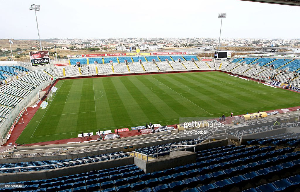 General view of GSP Stadium home of APOEL FC taken during the Cypriot First Division match between APOEL FC and AC Omonia at the GSP Stadium on May...