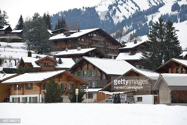 A general view of Gstaad on January 16 2014 in Gstaad Switzerland