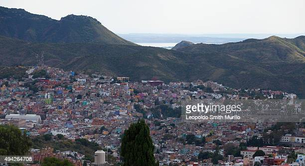 General view of Guanajuato City during the 43° Edition of International Guanajuato Cervantino Festival on October 25 2015 in Guanajuato Mexico