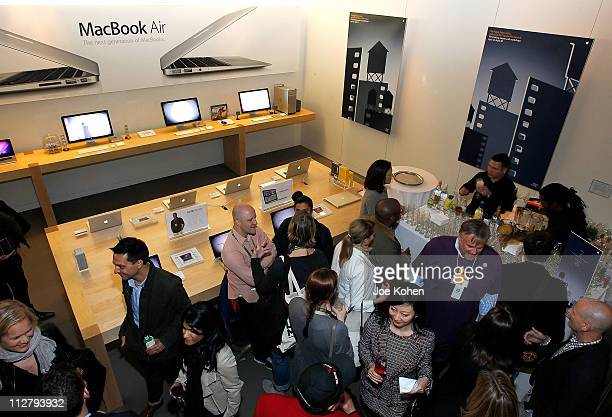 General view of guests at the Filmmaker Welcome Party At The 2011 Tribeca Film Festival at the Apple Store Soho on April 21 2011 in New York City