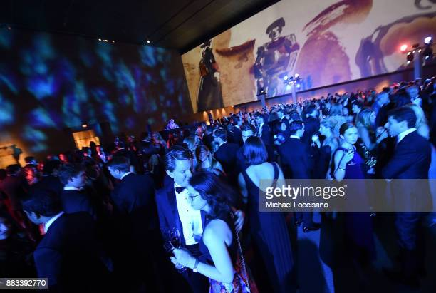 General view of guests attending the 2017 Apollo Circle Benefit at The Metropolitan Museum of Art on October 19 2017 in New York City