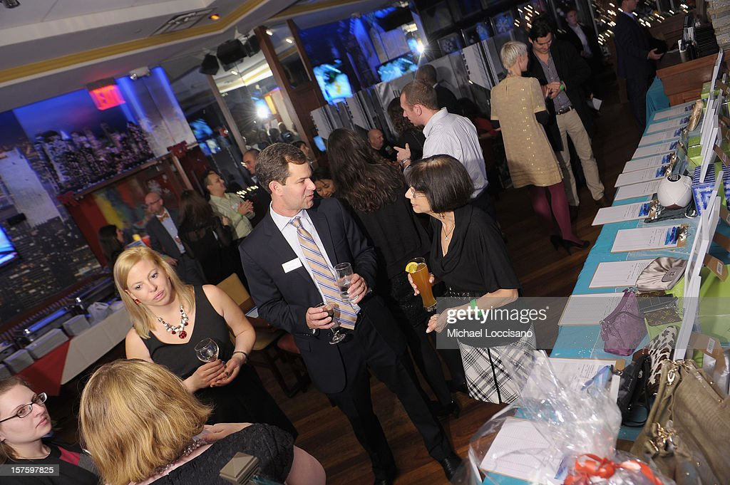 General view of guests attending the Hearing Health Foundation's Junior Board Holiday Fundraiser at Ashton's Alley on December 4, 2012 in New York City.