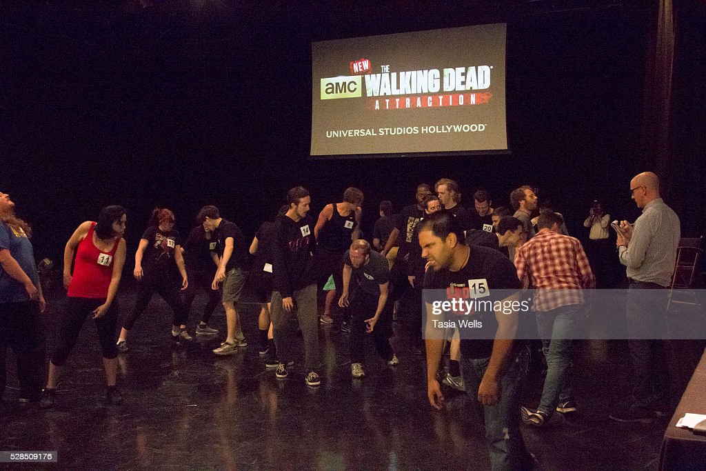 A general view of guests auditioning at the Universal Studios Hollywood open casting call auditions for a new attraction based on AMC's 'The Walking Dead' at Universal Studios Hollywood on May 5, 2016 in Universal City, California.