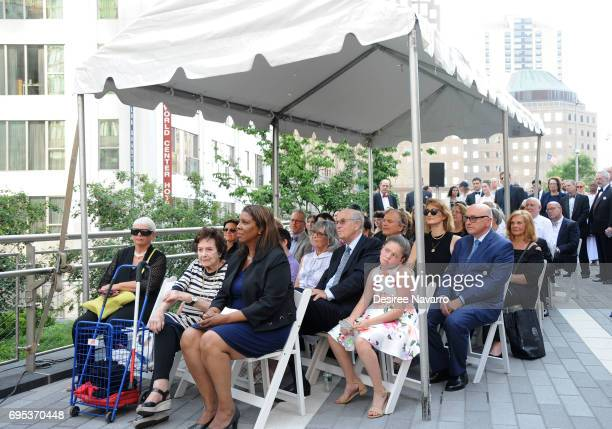 A general view of guests with Monica Smith New York Public Advocate Letitia James and Consul General of the Netherlands in New York Dolf Hogewoning...