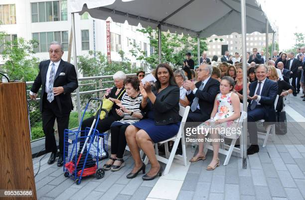 A general view of guests with writer Pieter Kohnstam Monica Smith New York Public Advocate Letitia James and Consul General of the Netherlands in New...