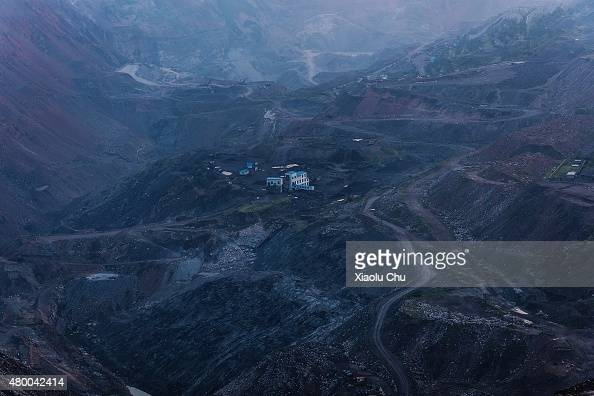 A general view of Haizhou coalmine which was the largest opencast coalmine in Asia in July 05 Fuxin Liaoning Province China Haizhou coalmine was...