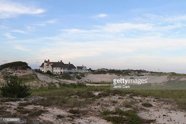 General view of Hamptons Beach Houses near the Social Life Magazine Publishers dinner at Dune Beach on July 27 2013 in Southampton New York