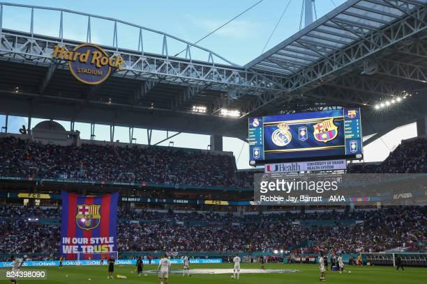 General view of Hard Rock Stadium home stadium of Miami Dolphins prior to the International Champions Cup 2017 match between Real Madrid and FC...