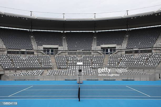 General View of Hard Tennis Court