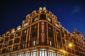 A general view of Harrods department Store in Knightsbridge on December 10 2014 in London England Many prominent retailers in the capital have...