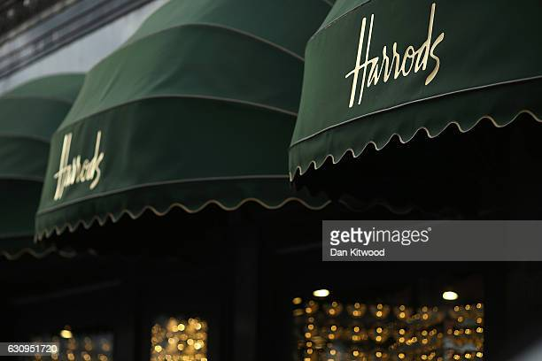 A general view of Harrods department store on January 4 2017 in London England The union that represents the catering staff at Harrods' onsite...