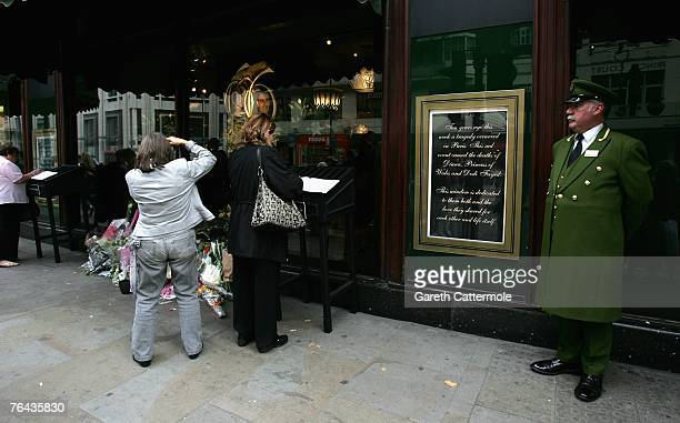 A general view of Harrods on the 10th anniversary of Diana Princess Of Wales and Dodi alFayed's death on August 31 2007 in London England Today marks...