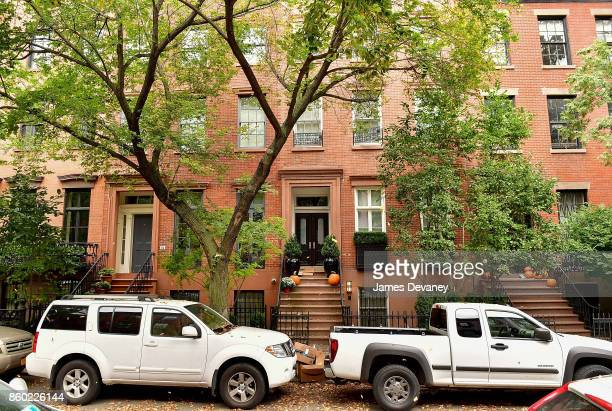 General view of Harvey Weinstein's West Village home on October 11 2017 in New York City Weinstein has been accused of sexual harassment by multiple...