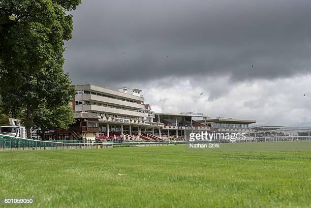 General view of Haydock Park Racecourse on August 4 2016 in Haydock England