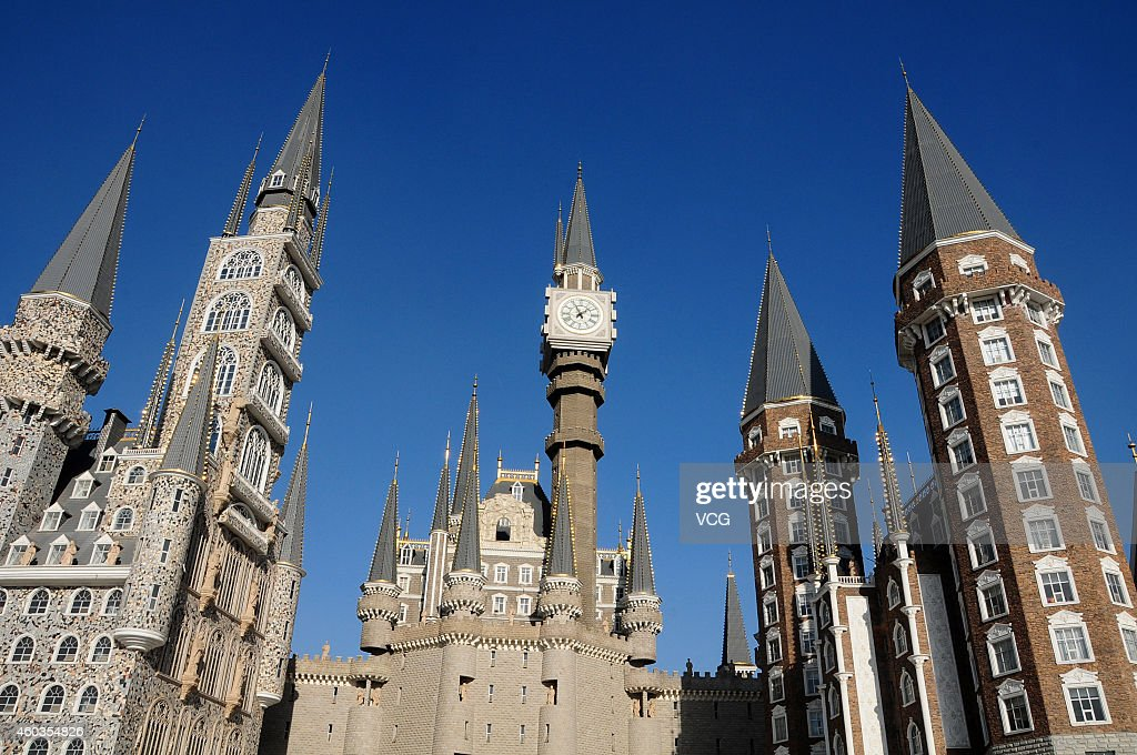 A general view of Hebei Academy of Fine Arts which is built like Hogwarts School of Witchcraft and Wizardry on December 12 2014 in Shijiazhuang Hebei...