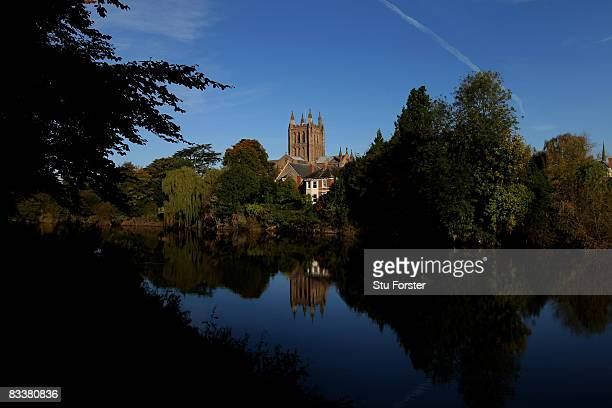 A general view of Hereford Cathedral on October 17 2008 in Hereford England