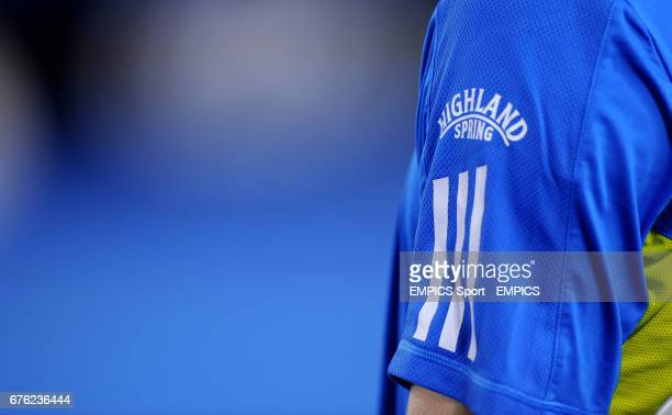 General view of Highland Spring advertising on the sleeve of Andy Murray's Tshirt
