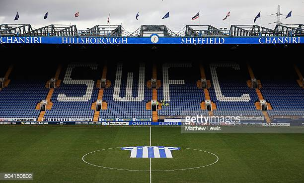 A general view of Hillsborough Stadium ahead of The Emirates FA Cup Third Round match betwen Sheffield Wednesday and Fulham at Hillsborough Stadium...