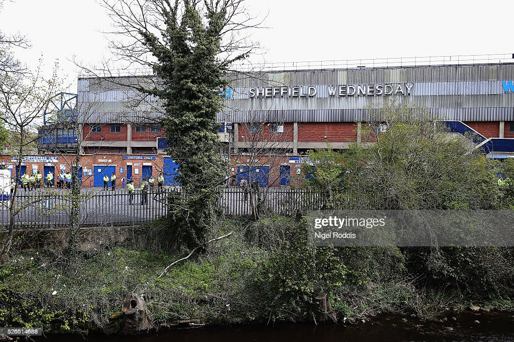 A general view of Hillsborough stadium ahead of the Sky Bet Championship match between Sheffield Wednesday and Cardiff City at Hillsborough stadium on April 30, 2016 in Sheffield, England.