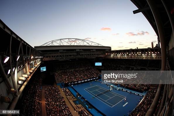 General view of Hisense Arena during the second round match between Andreas Seppi of Italy and Nick Kyrgios of Australia in his second round match...