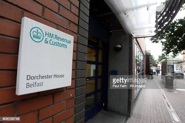 A general view of HM Revenue and Customs contact centre in Belfast where seven members of staff were sacked for racially abusing nonnationals who...