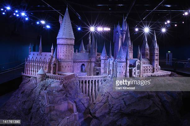 A general view of 'Hogwarts Castle' at the Harry Potter Studio Tour at Warner Brothers Leavesden Studios on March 23 2012 in London England The...