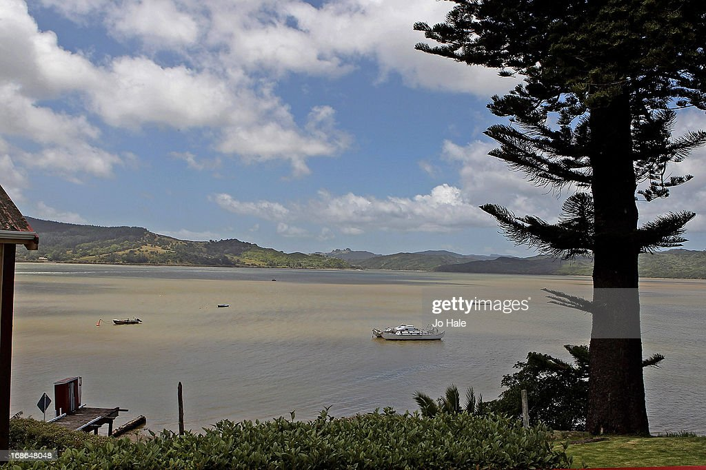 A general view of Hokianga Harbour in Omapere from Pakia Hill on January 8, 2013 in the Northlands of the North Island in New Zealand.