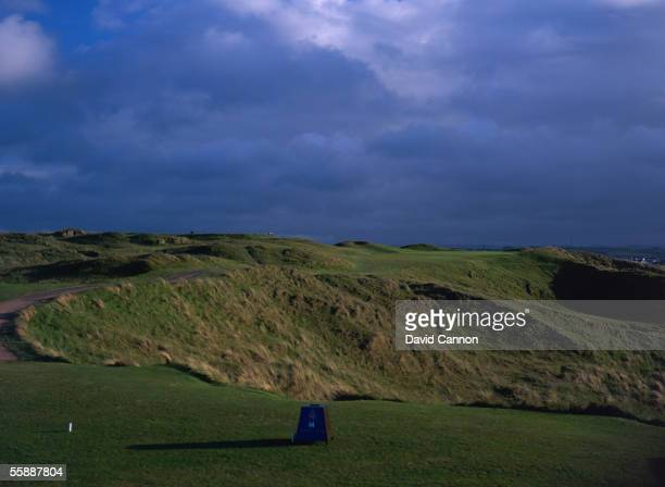 General view of hole 14 on the Dunluce Course taken during a photo shoot held at the Royal Portrush Golf Club in County Antrim Ireland
