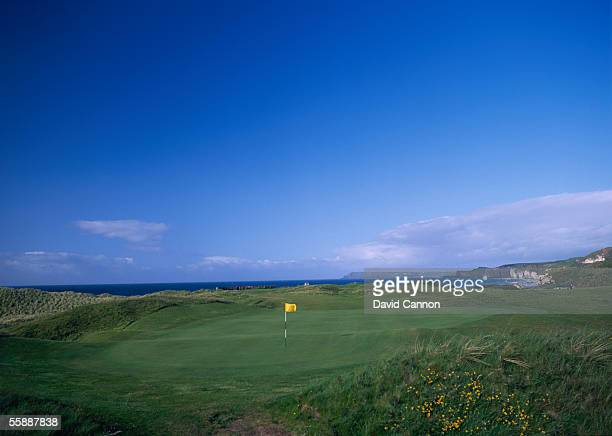General view of hole 6 on the Dunluce Course taken during a photo shoot held at the Royal Portrush Golf Club in County Antrim Ireland