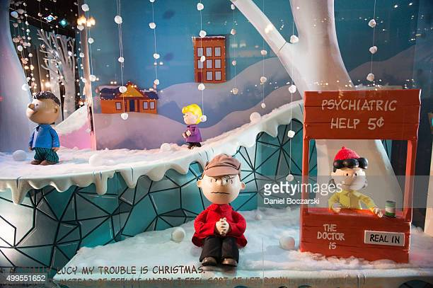 A general view of holiday shopping windows at Macy's on State Street on November 28 2015 in Chicago Illinois