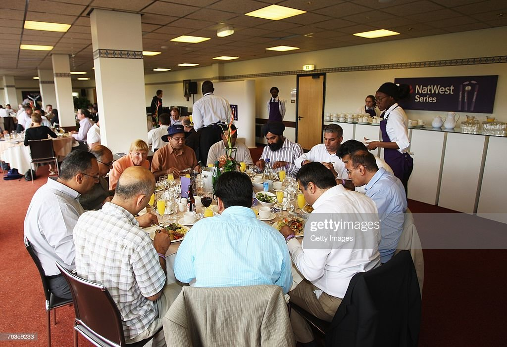 A general view of hospitality during the Third NatWest Series One Day International match between England and India at Edgbaston on August 27, 2007 in Birmingham, England.