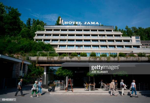 General view of Hotel Jama where recently was discovered a fullyequipped surveillance facility in a secret room in Postojna Slovenia on May 292017...