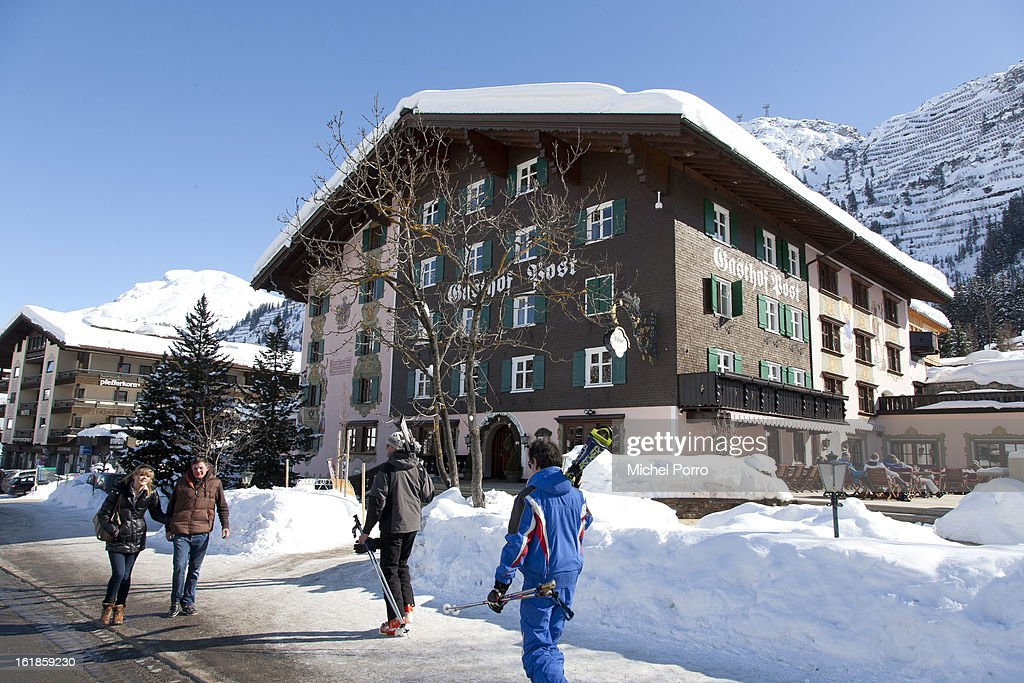 General view of Hotel Post, the usual holiday residence of Queen Beatrix of The Netherlands and members of the Dutch royal family, on February 17, 2013 in Lech, Austria. A service of prayers was held at Parish Church of St Nicholas in the resort of Lech today, marking the first anniversary of the ski-ing accident that left Prince Friso of The Netherlands critically injured. Prince Friso of Orange-Nassau (44) second son of Queen Beatrix of The Netherlands, was hit by an avalanche while ski-ing off-piste in the resort of Lech, under which he remained buried for 20 minutes. He suffered brain damage due to shortage of oxygen and has remained in a coma since the accident.