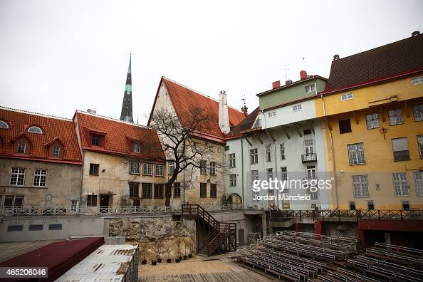 A general view of houses in the city on March 2 2015 in Tallinn Estonia