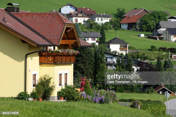A general view of houses in the town of the Hallwang area of Austria