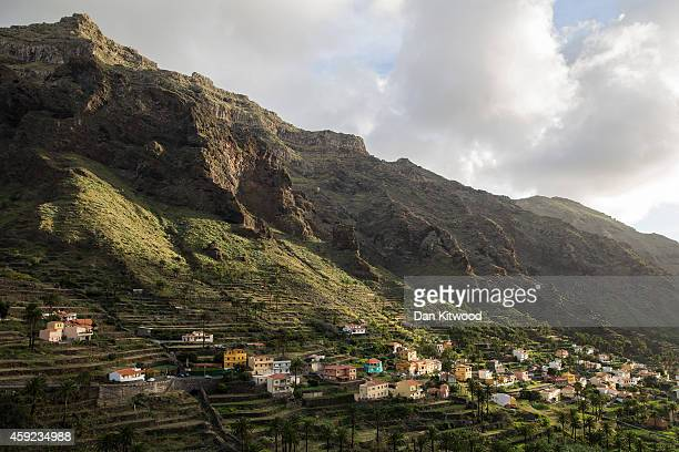 A general view of houses in Valle Gran Rey on November 11 2014 in La Gomera Canary Island Spain