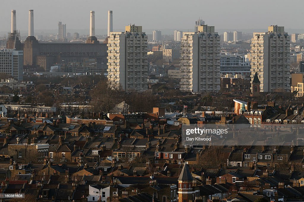 A general view of housing from Brixton on January 30, 2013 in London, England. According to a report from independent analysts Oxford Economics, the average mortgage deposit for first-time buyers in London, is likely to exceed £100,000 GBP by 2020.