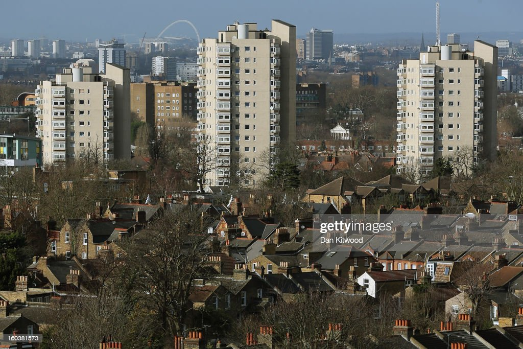 A general view of housing near Brixton on January 30, 2013 in London, England. According to a report from independent analysts Oxford Economics, the average mortgage deposit for first-time buyers in London, is likely to exceed £100,000 GBP by 2020.