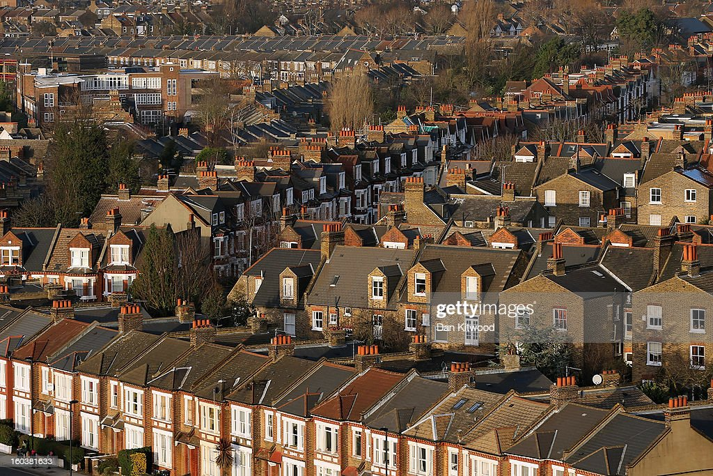 A general view of housing near Herne Hill on January 30, 2013 in London, England. According to a report from independent analysts Oxford Economics, the average mortgage deposit for first-time buyers in London, is likely to exceed £100,000 GBP by 2020.