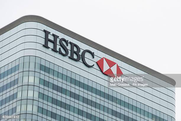 General view of HSBC's UK headquarters in Canary Wharf London The bank is one of several rumoured to be planning a move to Frankfurt after the UK's...